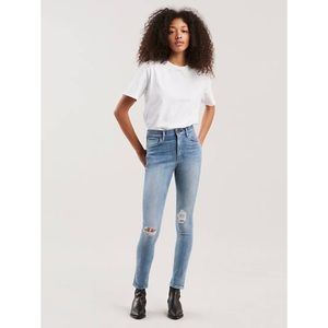 Levi's 721 selvedge high rise skinny ripped Jeans